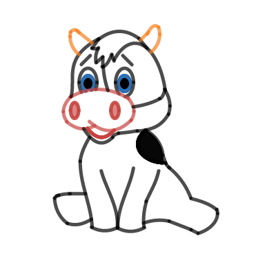 Image of Cow cartoon