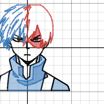 Image of Shoto Todoroki (With Shading)