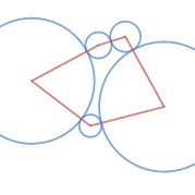 Mutually tangent circles (five)